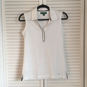 Tommy Hilfiger White Collared Golf Shirt